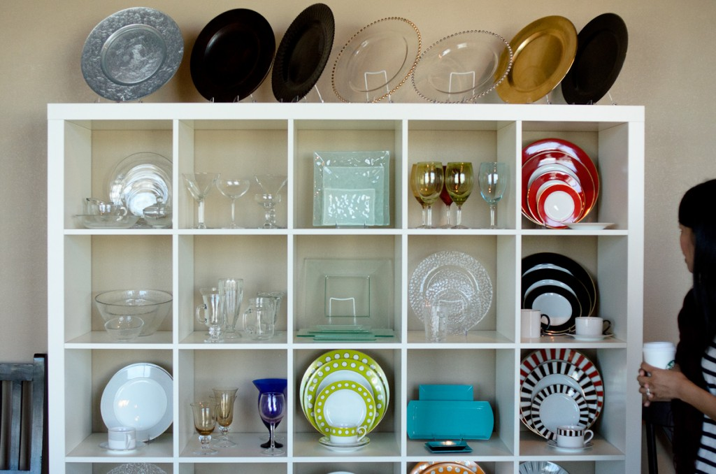 Classic Party Rentals Showroom Dishware
