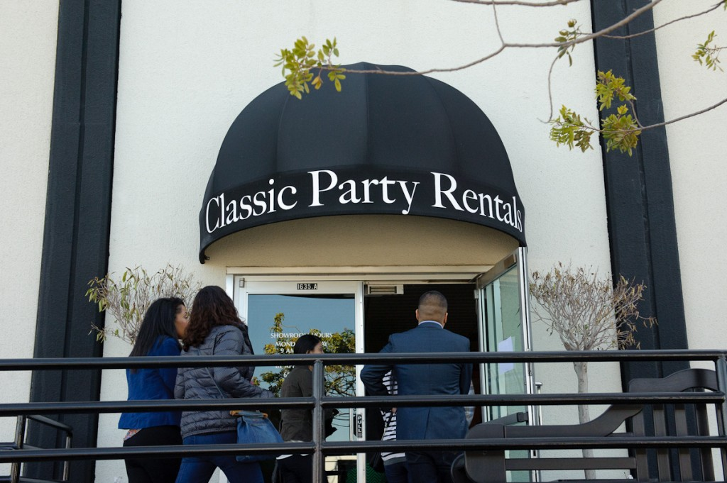 Classic Party Rentals Showroom Wedding Burlingame